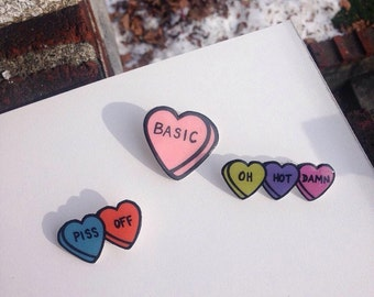 Cheeky Conversation Heart Pins