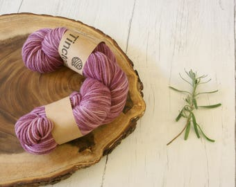 Merino Wool 100g skein DK, double knit, Lac Dyed Variegated Pinks Hand Dyed Natural Dyes, plant dyes,
