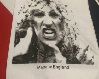 Twisted sister , vintage 80s , concert banner , made in england, authentic fetish. Dee Snider