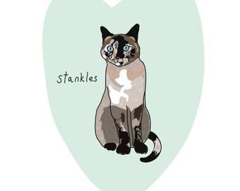 "8.5x11"" PRINT Add-On for Custom Pet Portrait Digital Illustration - Quirky Illustrated Pet Drawing -"