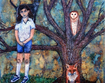 Friends: Encaustic Art Giclee Print