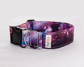 Galaxy Designer Dog Collar//Galaxy Dog Collar//Universe Dog Collar//Dog Collar Stars//Outer Space Dog Collar// Gift Under 30