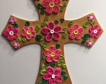 Paper Quilled Cross Wall Hanging
