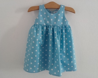Dress with polka dots in 12 months