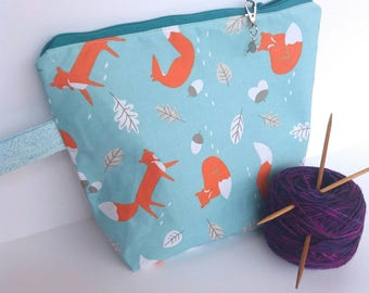 Medium Knitting Project Bag, Yarn Pouch, Gift For Knitter, Crochet Project Bag