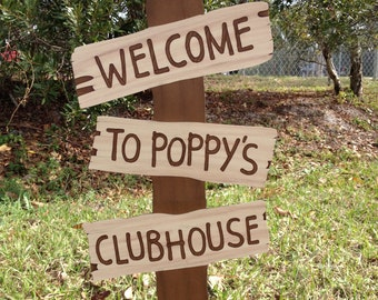 Mickey Mouse Clubhouse Sign- Mickey's Clubhouse Party Prop, Mickey Mouse Party Decoration