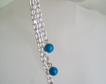Turquoise Chain Dangle Earrings