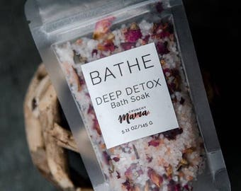 Bath Salts, Bath Soak, Aromatherapy, Dead Sea Salts, Bath Relaxation, Stocking Stuffer, Gift for her, Gift for Wife, Gift for Sister, Rose
