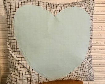 Teal Graph Pillow