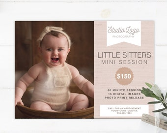 DIY - Little Sitters Mini Session Template - Instant Download 006