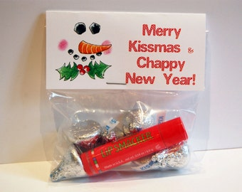 Merry Kissmas & Chappy New Year Treat Bag Toppers ~ Printable gift labels