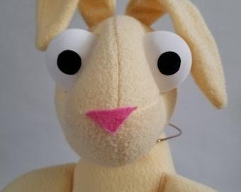 Handmade Plush Bunny (yellow)