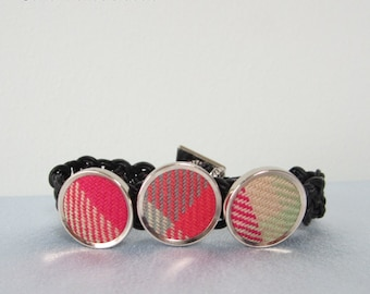 Highland Rose Tartan Celtic Knotted Bracelet
