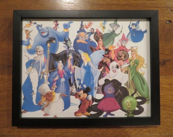 Disney Wizards, Witches And Fairies Photo Collage