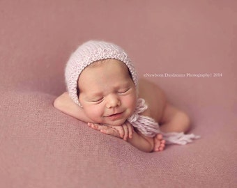 PDF Knitting Pattern - newborn photography prop basic knitted bonnet II  #75