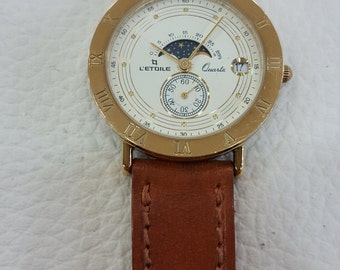 Watch LETUAL analog plating Moonphase in 18 carat gold