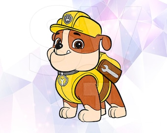 Coloring Pages Paw Patrol Rubble : Paw patrol zuma svg coloring pages vector layered cut files
