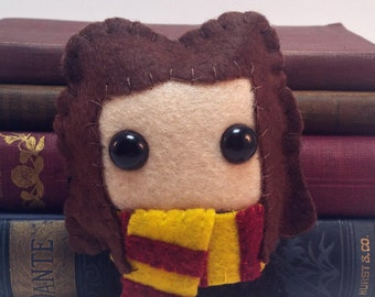 Hermione Granger Hogwarts/Harry Potter plushie (made to order)