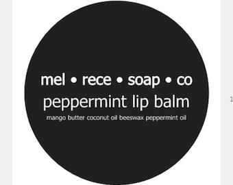 peppermint lip balm, nut free, lip balm, beeswax lip balm, natural lip