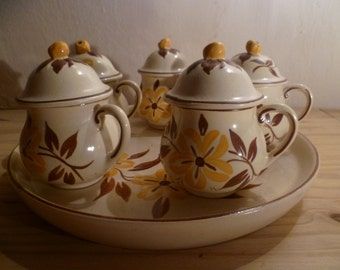 Desvres faience cream service