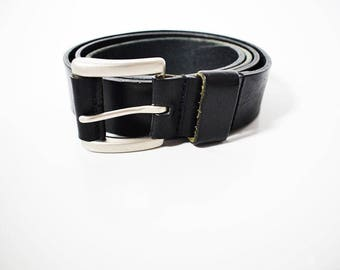 Vintage St Michael M&s Mens Leather Belt Black