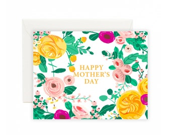 Flower Garden Mothers Day Greeting Card