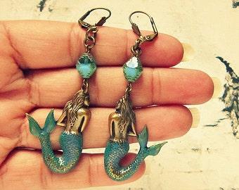 Mermaid Earrings, Mermaid Jewlery, Mermaid Jewelry, Unique Gifts For Women, Gifts Under 25, Mermaid Accessories