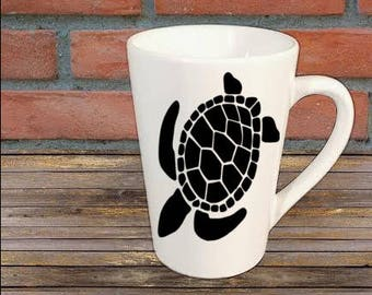 Sea Turtle Mug Coffee Cup Gift Home Decor Kitchen Bar Gift for Her Him Jenuine Crafts