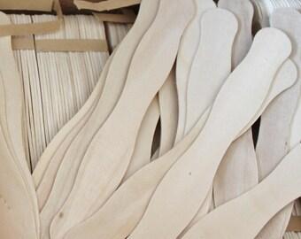 SALE 75 Wavy Fan Sticks - Wedding Sticks, Sticks, Crafty Sticks, Natural Sticks, Wood Sticks, Paddle Fan Sticks, Wooden Fan Sticks