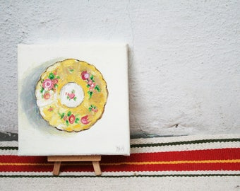 Oil Painting of Vintage Plate