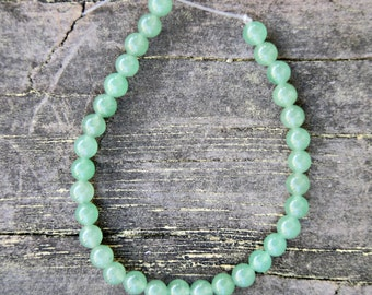 6mm Green Aventurine Round Gemstone Beads (8 inch strand)