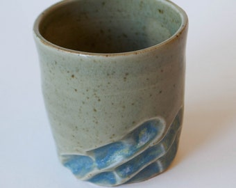 Small Carved Ceramic Cup
