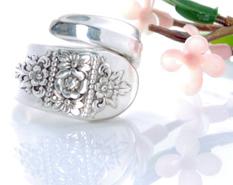 Vintage Spoon Ring - Dawn Spoon Ring - Spoon Jewelry - Silverware Jewelry - Spoon Ring - Silverware Spoon Ring (mcf  R545)