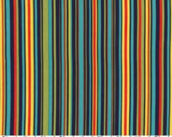 SPRING SALE - Play Stripe in Navy - 1 Yard - by Michael Miller Fabrics - SKU Cx3137