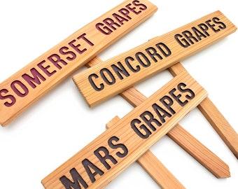 WINE GRAPES Garden Sign, Somerset Grape Marker, Concord Grape Sign, Mars Grape Marker, Fruit Sign, Grape Marker, Yard Art, Garden Decor