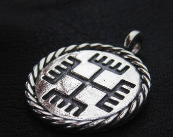 "Silver ""Hands of God"" pendant"