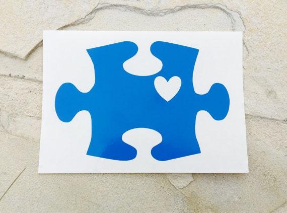 Autism Awareness Decal Puzzle Piece Decal Autism Decal
