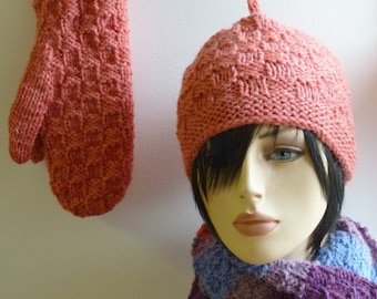 pdf pattern for a Sensible Scarf Set by Elizabeth Lovick in Chunky Wool - instant download