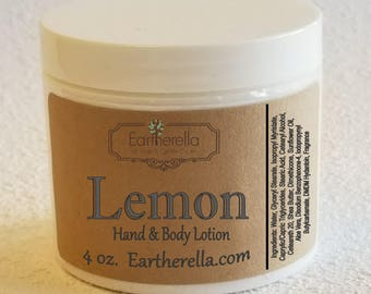 Eartherella LEMON Hand and Body Lotion Jar 4 oz.