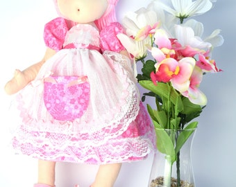 "Handmade Doll for Girls | One of a kind | Fabric Doll | ""Blossom"" 