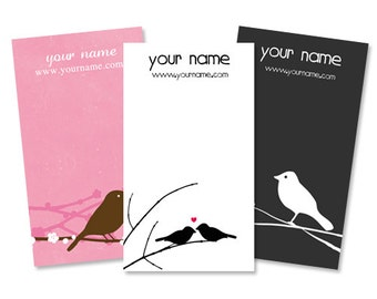Display Cards  Custom  Earring Cards  Hair Bow Cards  Business Cards  Jewelry Tags  Jewelry Display  Custom Tags  BIRDS