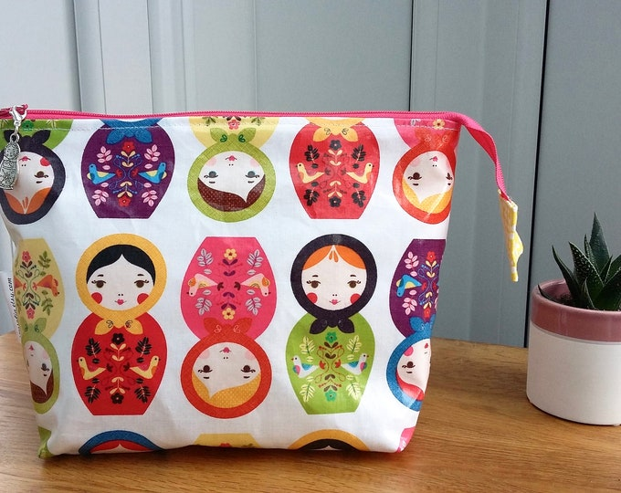 Russian Dolls wipe clean wash bag