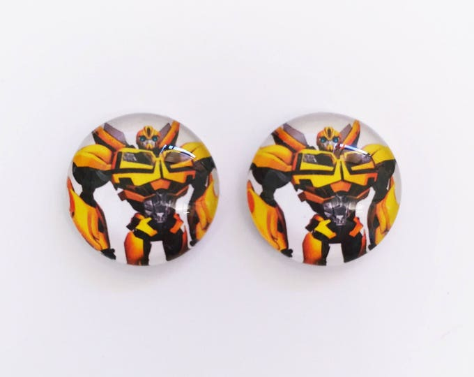 The 'Transformers' Glass Earring Studs