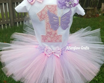 Butterfly Tutu ,  First Birthday Butterfly Tutu , 1st Birthday Butterfly Tutu , Baby Butterfly Outfit , Butterfly Tutu Outfit , Butterfly