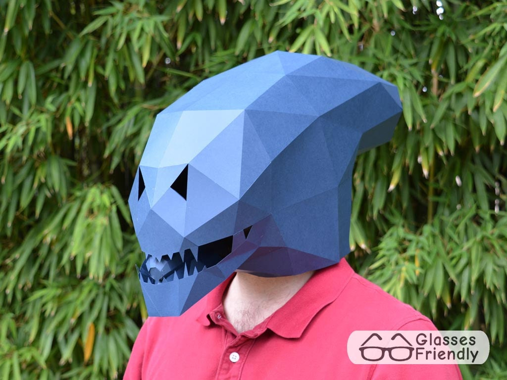 ?zoom & Alien Xenomorph Mask Become an Alien with just Paper and