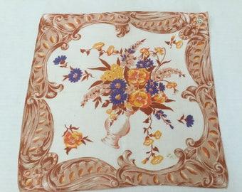 Vintage Handkerchief / Autumn Bouquet