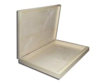 Unpainted Wooden Box A4 Size Plain Wooden Flat Box/Decoupage Art Hand Craft