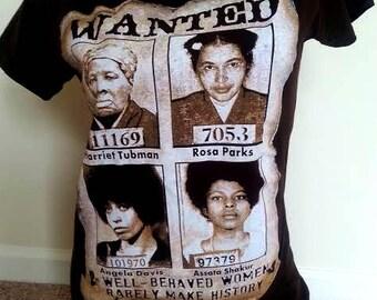 Well Behaved Women Ladies Junior T-shirts. Black History t-shirts