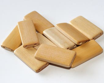 SET of 10 - Bamboo Tile Dominoes Altered Art - CHOOSE from 6 different colors!