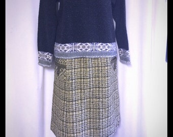 Vintage, 1950's,  Evan Picone,  tweed skirt,  perfect